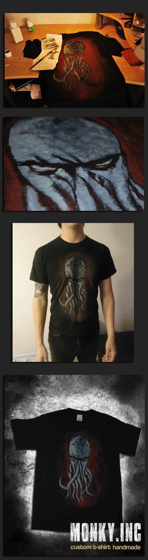 Cthulhu fhtagn!! Camiseta, 2ª versión
